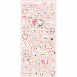 Stickervel San-X Korilakkuma Cute Cats Pink