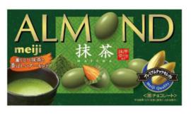 Meiji Almond Chocolate Matcha flavour