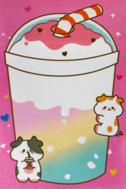 Kawaii Sticky Notes - Cow Drink