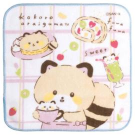 Mini Handtowel 21 x 21 cm Kokoro Araiguma - Cafe