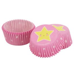 Cupcake molds pink - stars