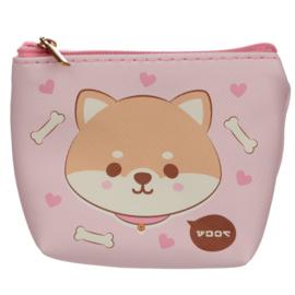 Portemonneetje Shiba - Pink Pattern