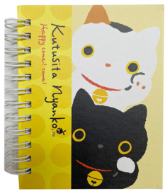 Notebook klein San-X Kutusita Nyanko geel