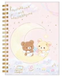 Notebook San-X Korilakkuma & Chairoikoguma Pink Sky