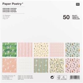 Origami papier 15 x 15 cm - Bunny Hop