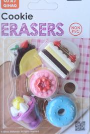Eraserset Donut & Cake