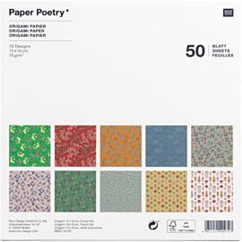 Origami papier 15 x 15 cm - Funny Fall