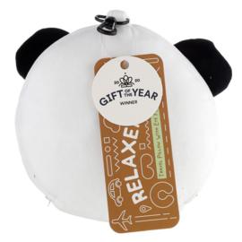 Releaxeazz Plushie Panda reiskussen met slaapmasker