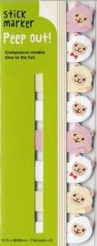Stickynotes peep-out alpaca - Haftnotizen / Index-Streifen