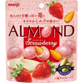 Meiji Almond Chocolate Strawberry Pouch