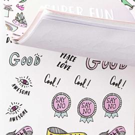 Aufkleber Stickerbuch Super Fun Rosa