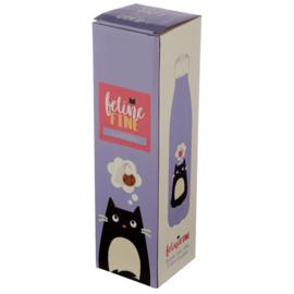 Feline Fine Cat Edelstahlflasche