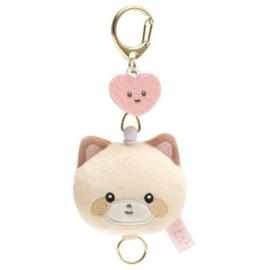 Mini Sleutelhanger Plushie San -X Kokoro Araiguma - Hokkori Ouchi - beige