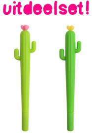 25 X Pen Flower Cactus - Kawaii Trakteren