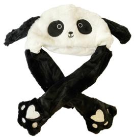 Kawaii Hut Mit Beweglichen Ohren - Panda