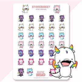 Stickersheet - Pride Dragons - CutieSquad