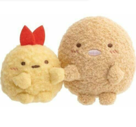 Sumikkogurashi Tonkatsu & Ebifurai - Official San-X mini Plush