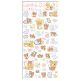 Stickersheet San-X Rilakkuma - Chairoi Koguma No Otomodachi - Pink