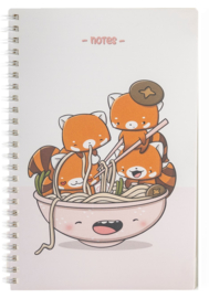 Notebook A5 - Hungry Red Panda - Cutiesquad
