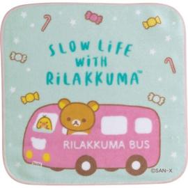 Mini Towel 21 x 21 cm Rilakkuma Bus