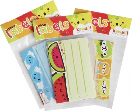 Kawaii labels - 15 pcs.