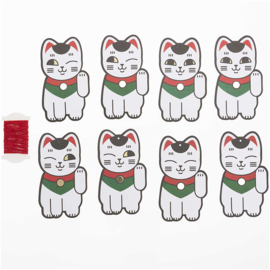 Paper Tags Lucky Cat