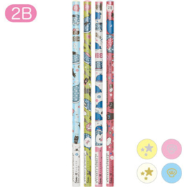 4x 2B Pencil Set 2- San-X Jinbesan