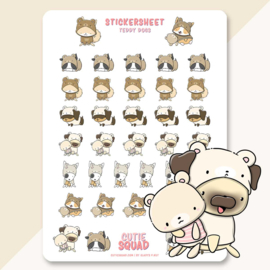 Sticker sheet -Teddy Dogs- CutieSquad