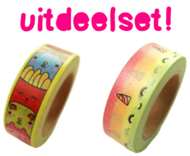 25 X Washi Tape - Kawaii Trakteren