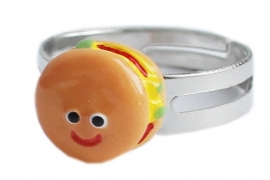 Kawaii ring Happy Hamburger