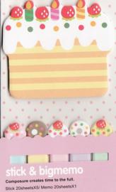 Stick & Big Memo - Cake