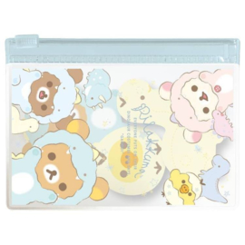 Stickynotes in case - San-X Rilakkuma Dino blue