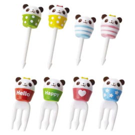 Kawaii Picks and Forks Cupcake Panda