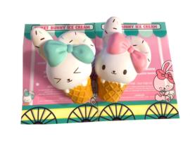 Squishy Bunnys Cafe Sweet Bunny Icecream Cone