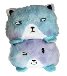 Kawaii reversible plushie - Blue Cat