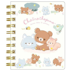 Notebook klein Rilakkuma Chairoi Koguma No Otomodachi - Green