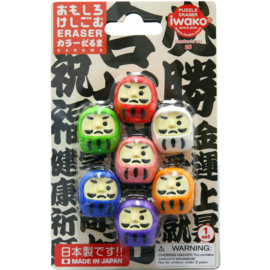 Eraser set Iwako Puzzle - Daruma