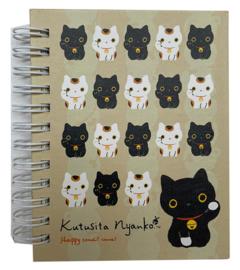Notebook klein San-X Kutusita Nyanko beige