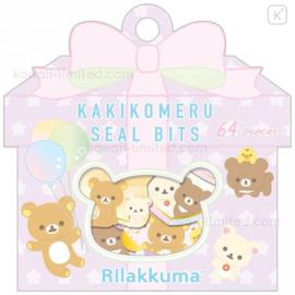 Sticker bag San-X- Rilakkuma - Kakikomeru Seal Bits - Lila