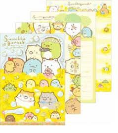Notizblock Sumikkogurashi gelbe Blumen