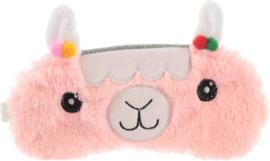 Sleep mask Llamapalooza Pink