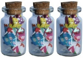 Mini lucky stars bottle - 3pcs