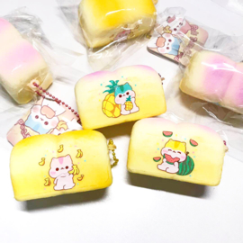 Squishy Poli twin bread Fruits - pick one