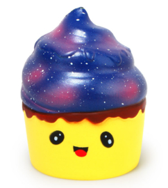 Squishy Galaxiefarbener Cupcake