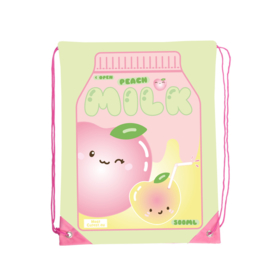 MostCutest.nl Kawaii Peach Milk Drawstring bag