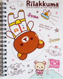 Notebook San-X Rilakkuma in Space white
