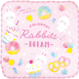 Mini Handdoekje 21 x 21 cm Colorful Rabbit