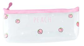 Transparant pencil pouch Peach - multiple prints