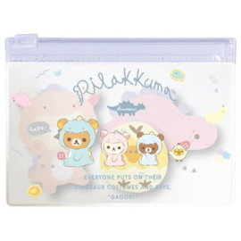 Stickynotes in case - San-X Rilakkuma Dino pink