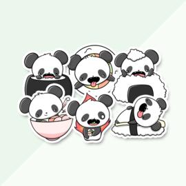 Stickerset - Panda sushi - CutieSquad
